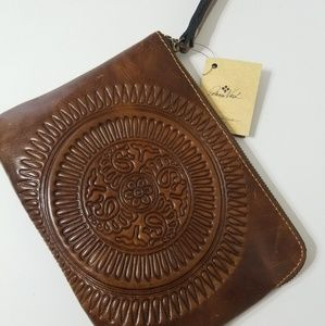 Patricia Nash Cognac large wristlet wallet/purse